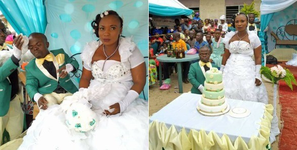 Dwarf  Beats all Odd Marries His Lovely Bride In Delta State