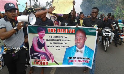 Delilah – Woman Who Reportedly Stabbed Hubby Fatally Included In His Burial Posters
