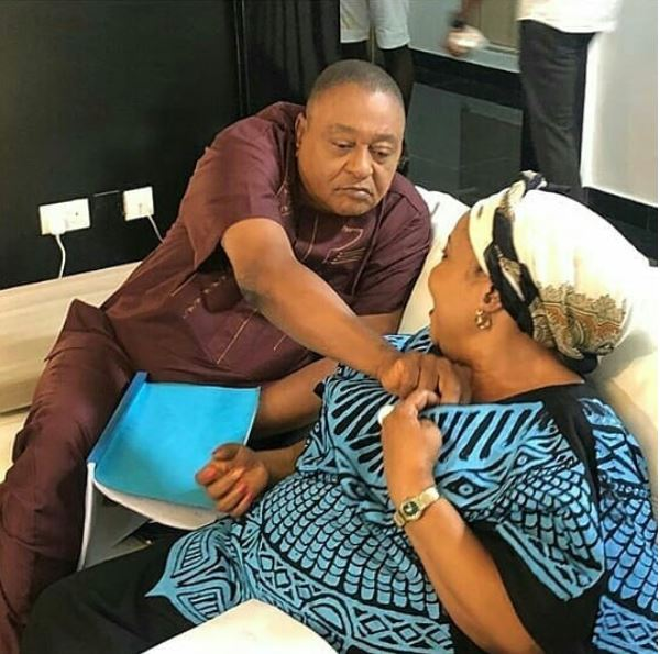 Nollywood Actor, Jide Kosoko Spotted On Camera Touching A Woman's Chest – What could be going on?  (Photo)