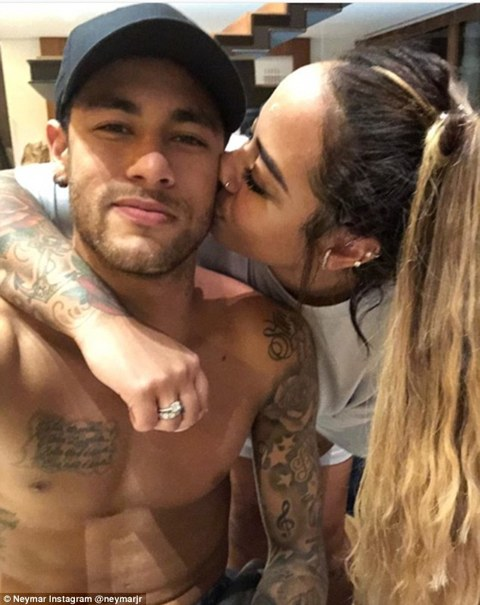 PSG star Neymar attends his sister's birthday party for a FOURTH year in a row after yet another well-timed injury