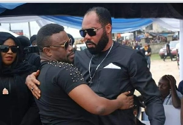 Tears as actor Moses Armstrong buries his late wife, Rita who died in an accident
