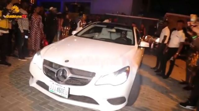 BBNaija winner, Miracle makes grand entrance in multi million Naira Mercedes Benz SUV at the homecoming party yesterday (Photos/Video)