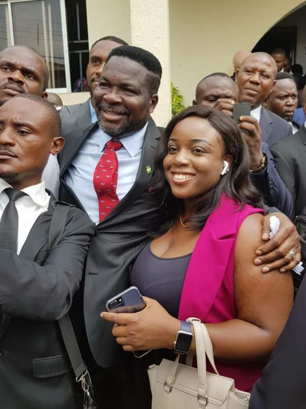 Jubilation As Dino Melaye's Lawyers Detained By Police In Kuje Prison Are Released