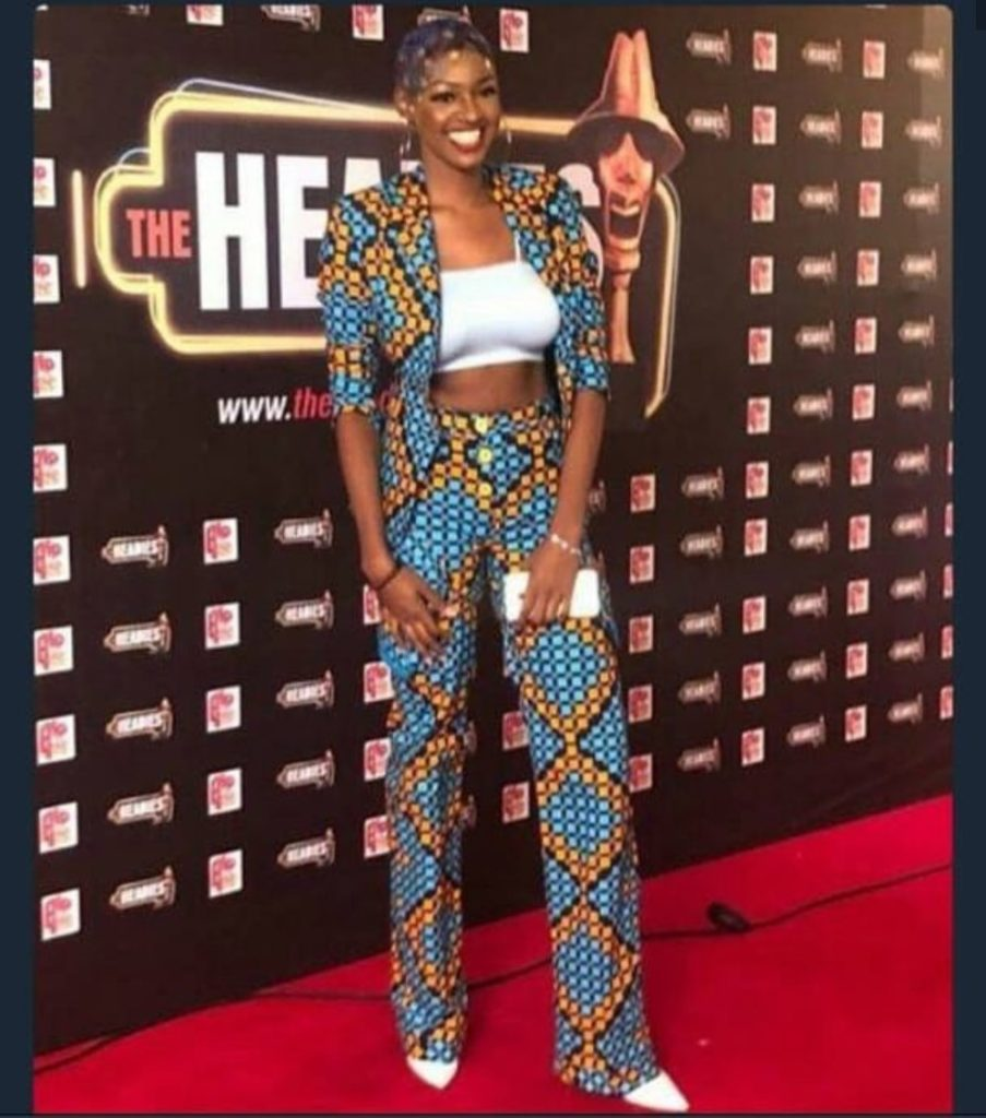 BBNaija Ahneeka's Hairstyle & Outfit to The 2018 Headies Is The Talk of The Town (Photos)