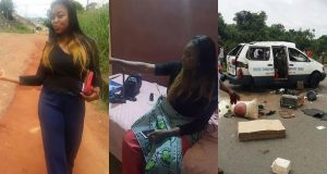 Young lady survives fatal accident gives credit to Frank Edward's song for her survival (Photos)