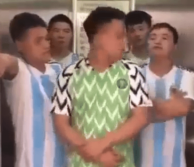 Hilarious video of Chinese men mocking Super Eagles after their defeat to Argentina (Video)
