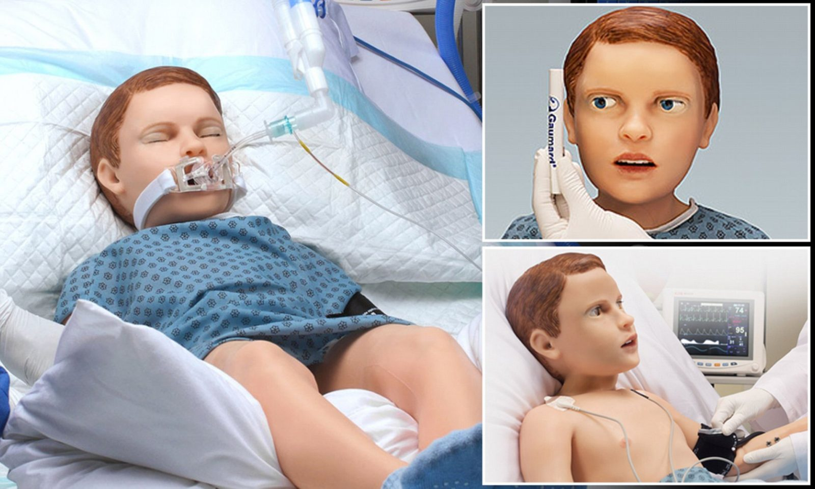 Meet HAL, the robotic five-year-old boy that breathes, bleeds and even calls for his mom: 'Hyper-real' doll set to train students
