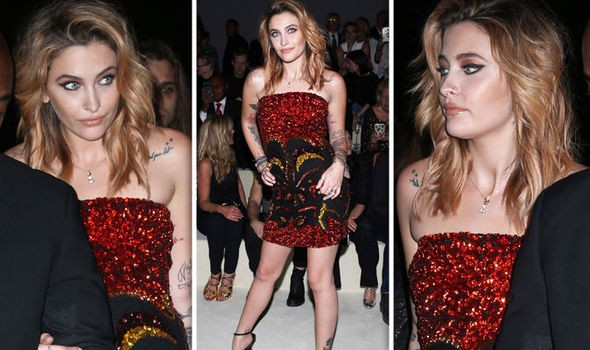 Michael Jackson's daughter Paris puts on leggy display in dazzling thigh-skimming dres