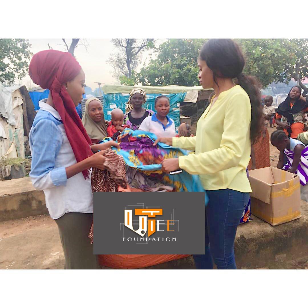 Uyai Christina Distributes Cloths to Celebrate International Day of the Girl Child