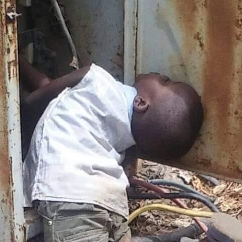Little Boy Electrocuted while playing with Transformer Changeover Box