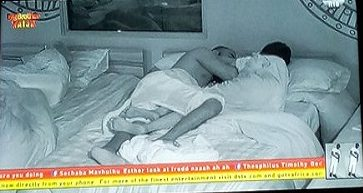 #BBNaija2019 – Gedoni and Khafi Cuddling In Bed After Hot Smashing (Video)
