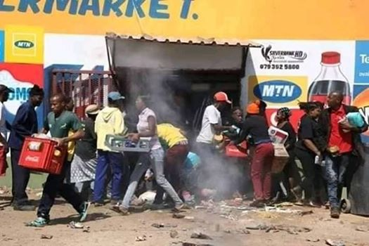 Looting Continues in South Africa