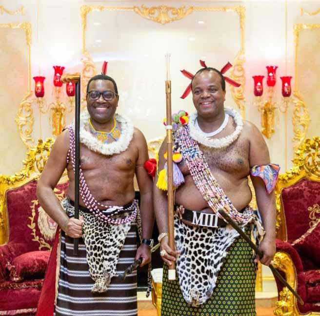 Adesina Celebrates African Culture with King Mswati III of Eswatini