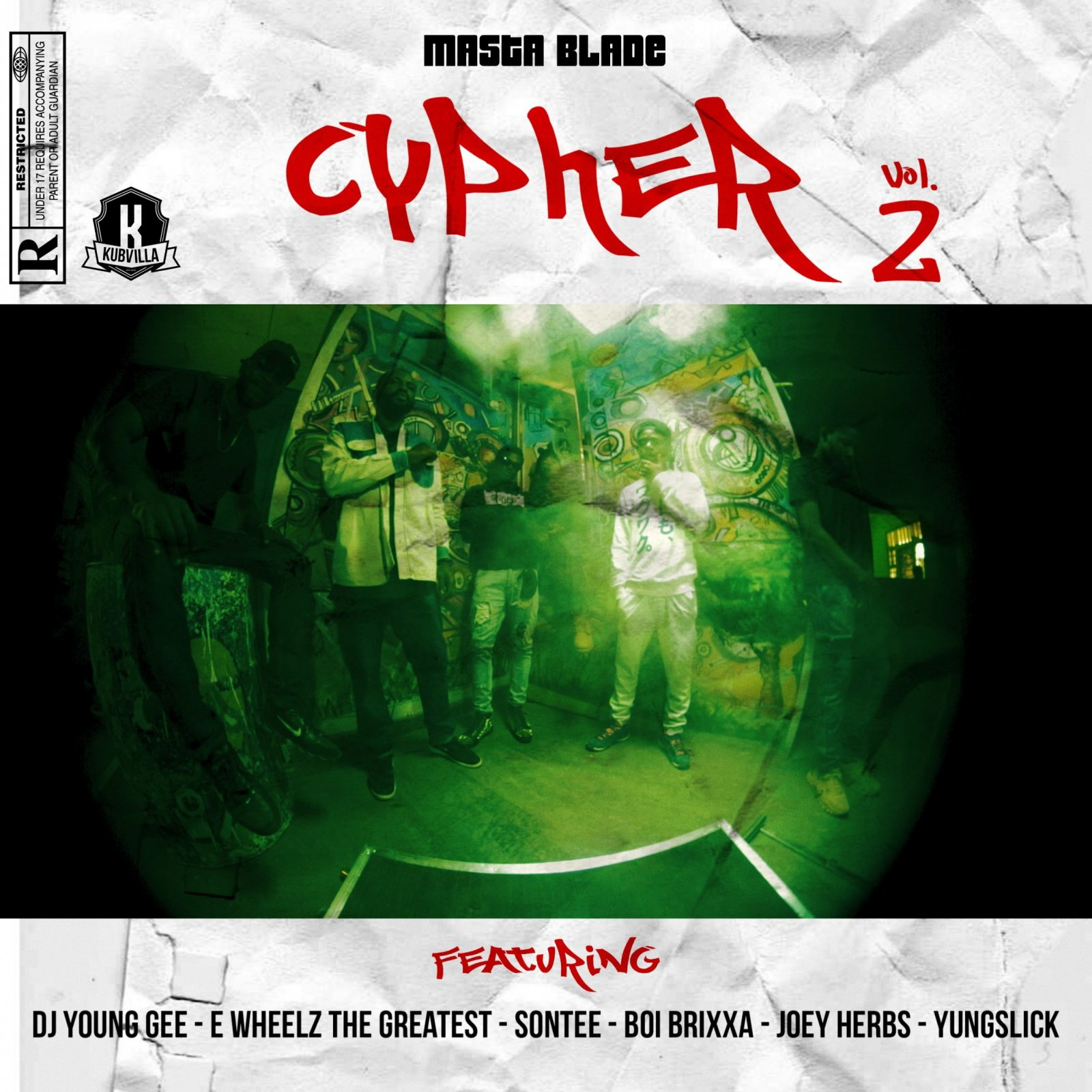 Masta Blade Cypher 2.0 Featuring – Dj young Gee -Ewheelz the greatest – Sontee – Brixxa – Joey – Herbz – Yungslick