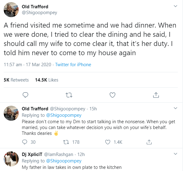Man reveals why he stopped his friend from coming to his house after the comment he made