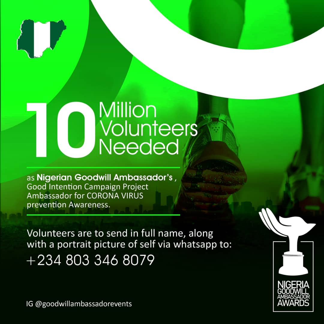 NGA's Kick Coronavirus Campaign Begins, 10M Volunteers Needed – Join the Movement