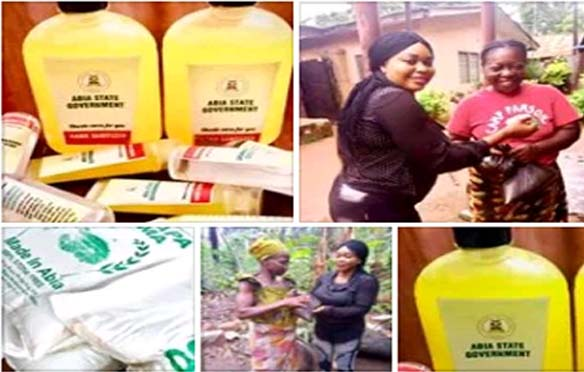 Covid-19 – Abia State Government Distributes Sanitizers, Relief Items to Communities