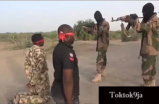 Boko Haram Execute Nigerian Army and Police   Officers by firing squad
