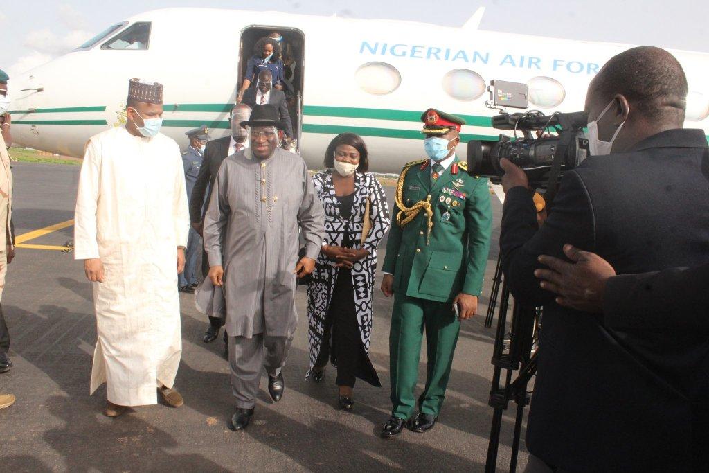 Jonathan Arrives Mali as ECOWAS Special Envoy