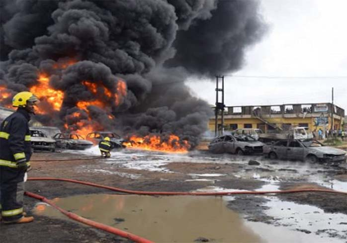 Lagos State Gas Explosion Claims the Lives of Many