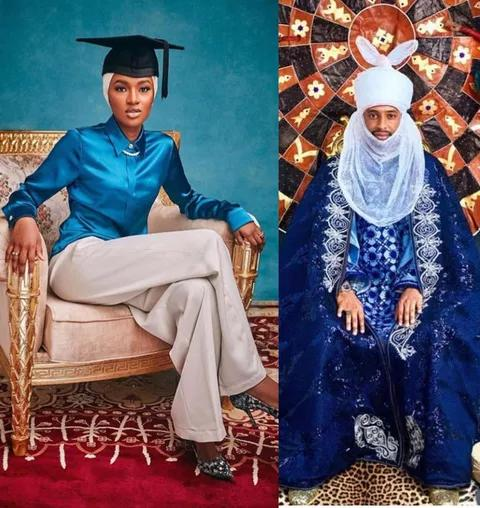 Buhari's Daughter Hanan is Getting Married to Turad Sha'aban See Her Wedding Invitation