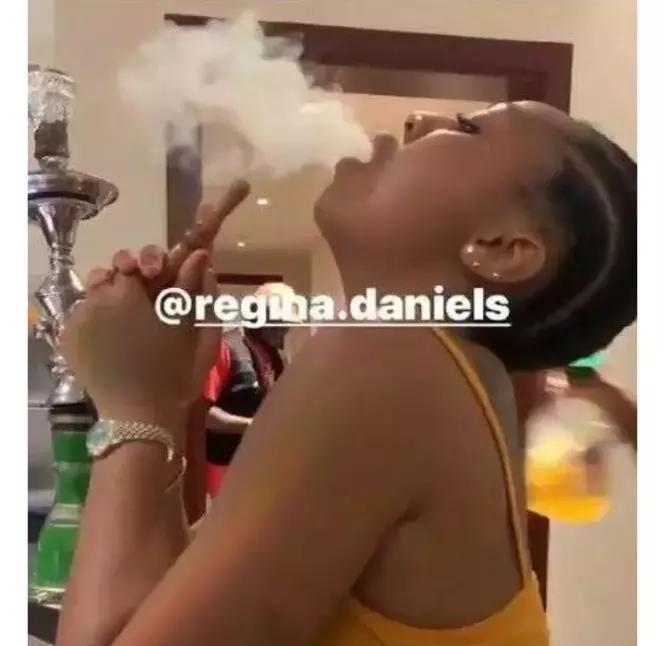 Trending Video Of Regina Daniels Smoking Shisha Breaks the Internet