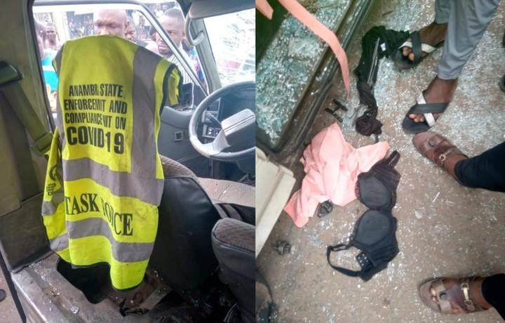 Anambra COVID-19 Taskforce Members Allegedly Rape Innocent Girl Inside A Bus (Video)
