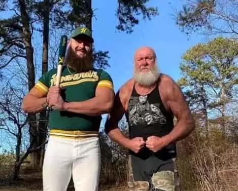 """""""Monster Amongst Men"""" – See Photos of Braun Strawnan and His Powerful Father"""