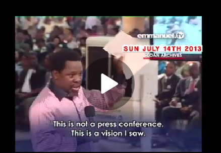 Prophet T. B. Joshua's Prophecy About Protest in Nigeria Comes to Pass After 7 Years (VIDEO)