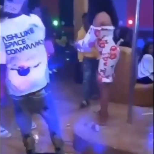 VIDEO: Lady Washes Her Hands With Expensive Champagne, As Boyfriend Make It Rain