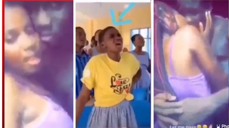 Video of Female SHS SRC Student C@ught K!$$ing, Sm00ch!ng and Ch00p!ing Life With Her Boyfriend Trends Online
