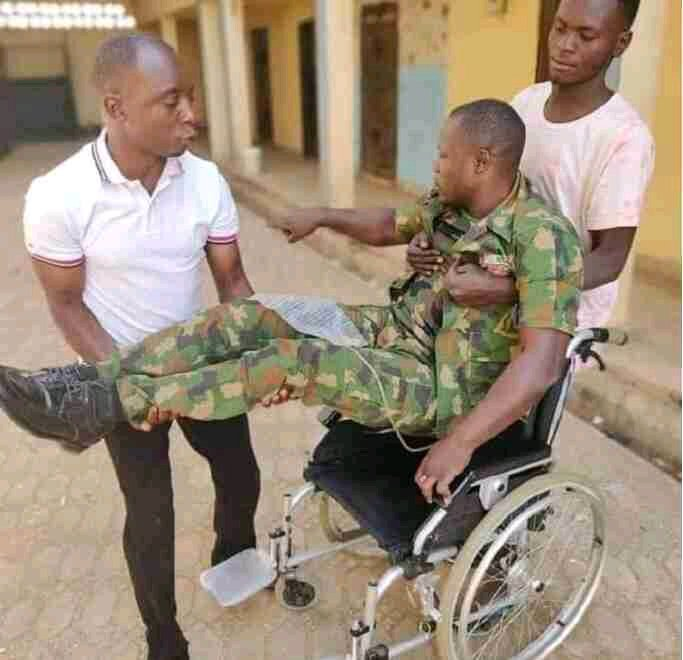 """My Wife Abandoned Me After I Sustained Spinal Cord Injury, I Have No One"" – Nigerian Army Cries for Help"