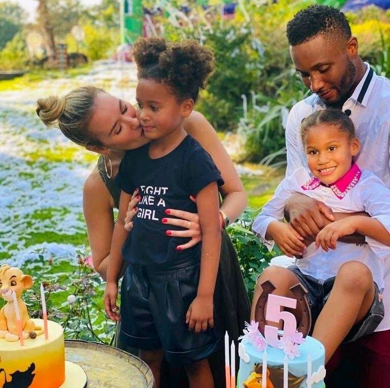 Mikel Obi's Twin Daughters Are The Most Beautiful; See How Well They've Grown
