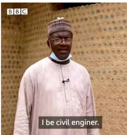 After This Hausa Man Managed To Build A House With 17, 800 Bottles, See What Nigerians Are Saying About Him
