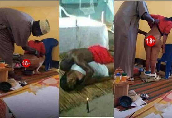 Yawa Video of Native Doctor Ch£wing A Married Woman Who Needs A Child Goes Viral