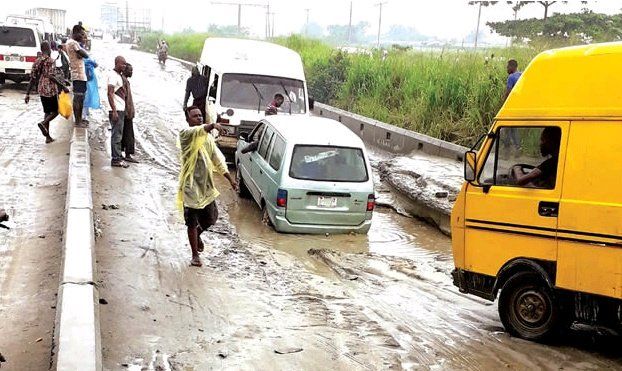 Lagos State Residents Lament Over Poor State of Roads, See the Photos