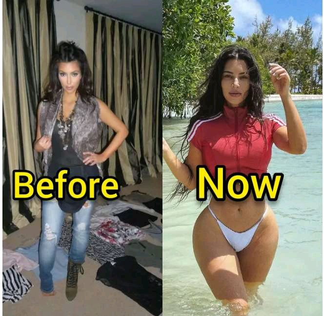 See the Old Photos of Kim Kardashian Before She Did Plastic Surgery