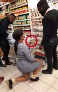See the Lady That Proposed to Her Boyfriend inside Shoprite