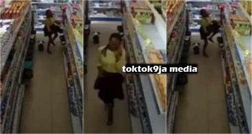 YAWA – Slay Queen Caught on CCTV Shoplifting and Hiding the Items Inside Her PriV@ate Part (VIDEO)