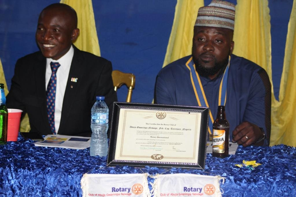 Scenes at the Handover Ceremony of Rotary Club of Abuja Gwarinpa Newage District 9125