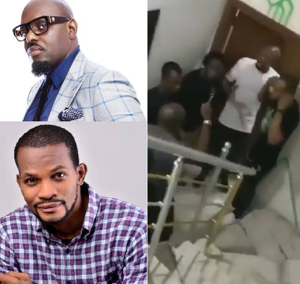 VIDEO of Nollywood Jim Iyke Beating Uche Maduagwu in His Studio, Here's How It Started