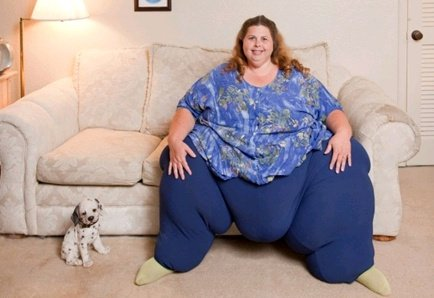 Meet Pauline Potter – The World Fattest Woman Who Needs To Have S3x 7 Times A Day To Keep Fit
