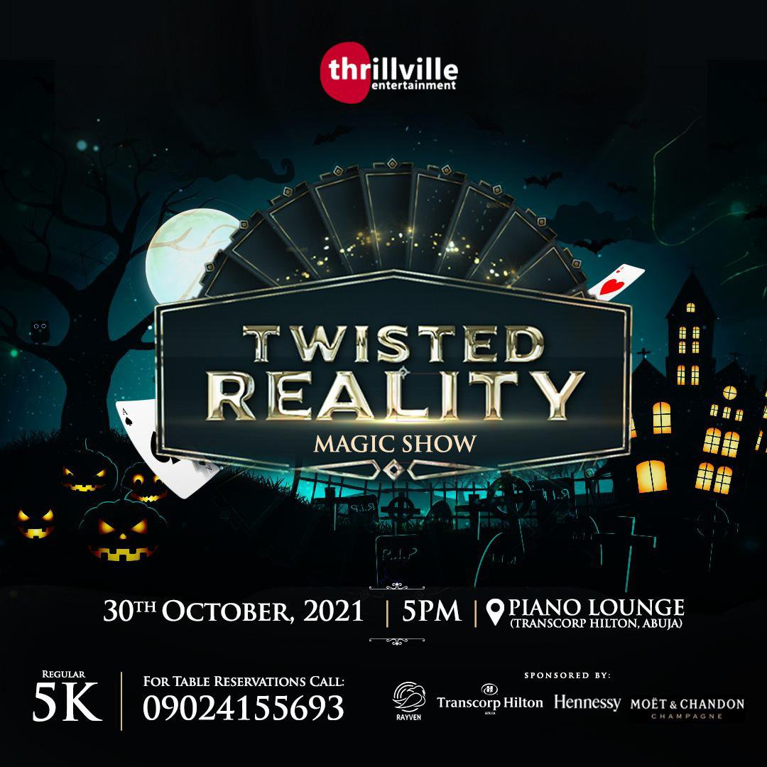 Thrillville to host first magical show in Abuja on Halloween Night